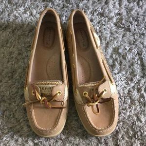Gold Sperry Shoes